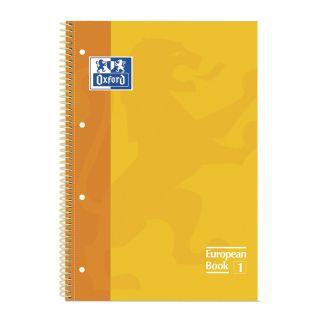 Libreta Oxford Espiral A4+ Amarillo - Tapa Extradura - 80 Hojas - 4 Taladros - Cuadricula 5x5 - 90gr