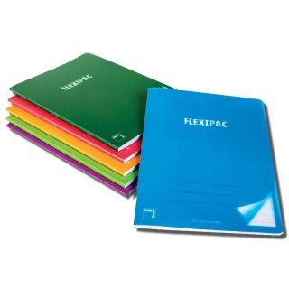Pack 6 Libretas Sam Pacsa Flexipac 20056 -  A4 - 48 Hojas - Papel Blanco 90gr - Cuadricula 4x4 - Colores Surtidos - Polipropileno