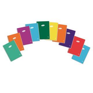 Paquete 10 Libretas Espiral - 80 Hojas - Tamaño 8 -110×160mm - Cuadricula 4mm - Cubierta Carton Plastificado 400 Grs - Colores Surtidos - Papel Bla