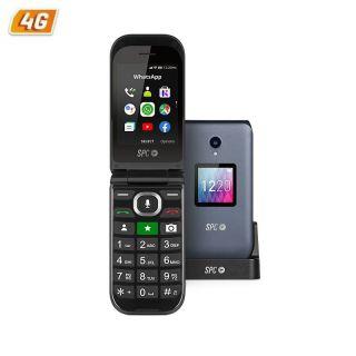 Teléfono Móvil Spc Jasper para Personas Mayores/ Negro