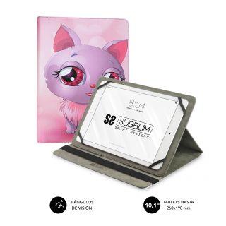 Funda Subblim Trendy Cat para Tablets de 10.1'