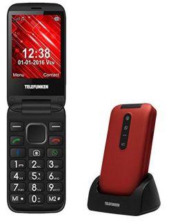 Teléfono Móvil Telefunken Tm 360 Cosi para Personas Mayores/ Rojo
