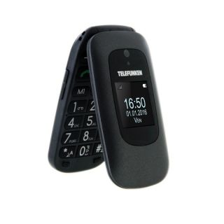 Teléfono Móvil Telefunken Tm 250 para Personas Mayores/ Negro Izy