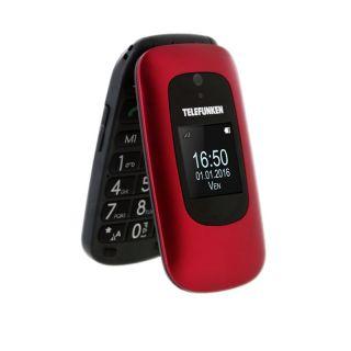 Teléfono Móvil Telefunken Tm 250 para Personas Mayores/ Rojo Izy