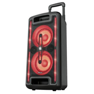 Altavoz Portátil Trust Klubb Mx Go - 80W Rms - 160W Max Salida - Entrada Bt/Microsd/Aux 3.5Mm/Microfono -Luces Led Colores Rgb - Pantalla Led