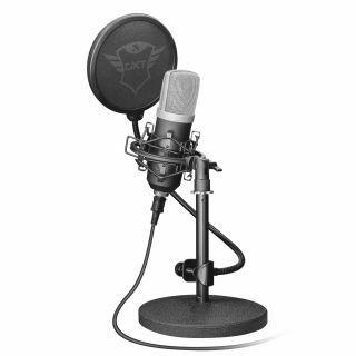 Micrófono Usb Profesional Trust Gaming Gxt252 Emita Streaming - Soporte Metal - Suspensión Gama Alta - Filtro Pantalla Doble - Cable 1.8M