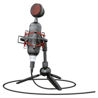 Micrófono Trust Gaming Gxt 244 Buzz Usb Streaming - Grabación Cardioide Alta Precisión - Soporte Amortiguador - Trípode - Cable Usb 1.8M