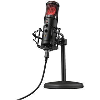 Micrófono Trust Gaming Gxt 256 Exxo Usb Streaming - Grabación Cardioide Alta Precisión - Puerto Monitorizacion - Rejilla Iluminada - Cable Usb 1.8M