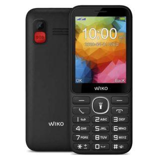 Teléfono Móvil Wiko F200 para Personas Mayores/ Negro
