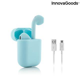 Auriculares Inalámbricos con Carga Magnética NovaPods InnovaGoods Color Azul