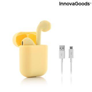 Auriculares Inalámbricos con Carga Magnética NovaPods InnovaGoods Color Amarillo