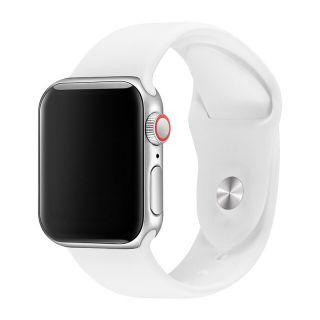 Correa Deportiva para Apple Watch 42/44 mm Apple Watch 3 Apple Watch Serie 5 Correa Silicona de Reloj Color Blanco