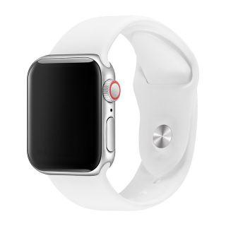 Apple Watch Correa Deportiva Fluoroelastómero Coerreas de Reloj de Pulsera Silicona Color Blanco