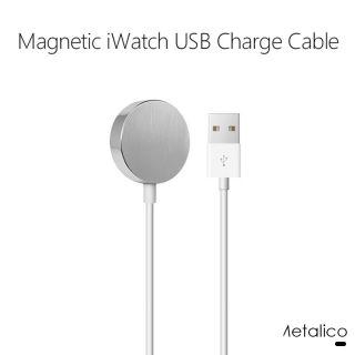 Cargador Inalámbrico para Apple Watch Cargador Magnética 1M para Reloj Inteligente Apple Watch Series 5/4/3/2/1 Color Plata