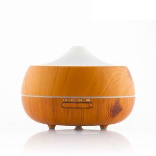 InnovaGoods Humidificador Difusor de Aromas LED Wooden-Effect  Apagado automático