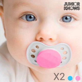 Chupetes para Bebés Junior Knows (pack de 2) Color Rosa