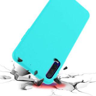 Carcasa Suave Mate en Silicona TPU Azul
