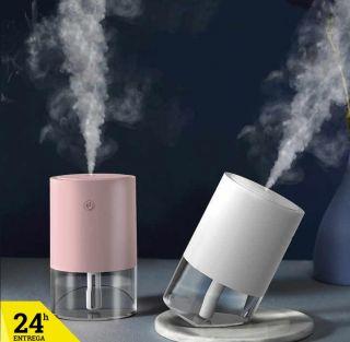 Humidificador 350ML Difusores LED Humificador Aromaterapia para Casa Oficina Coche Color Blanco