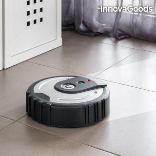 InnovaGoods Robot Mopa Mini Robot para Limpiar el Suelo Fabricado de ABS, PP y goma