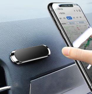 Soporte Móvil Coche Imán Color Plata Soporte Magnético con Forma de Minitira para iPhone Samsung Xiaomi