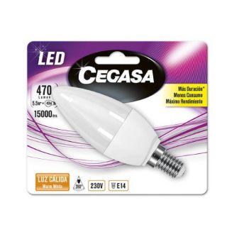 Bombilla LED Vela Cegasa E14 5,5 W A+