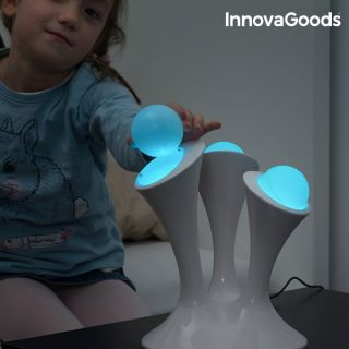 Lámpara Led Fluorescente Multicolor Innovagoods Fabricado de Abs con 2 Modos de Iluminación