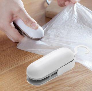 Mini Sellador de Bolsas de Plástico Seleok Almacenaje Cocina Selladora Termica de Bolsa Color Blanco