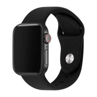 Correa Deportiva para Apple Watch 42/44 mm Apple Watch 3 Apple Watch Serie 5 Correa Silicona de Reloj Color Negro