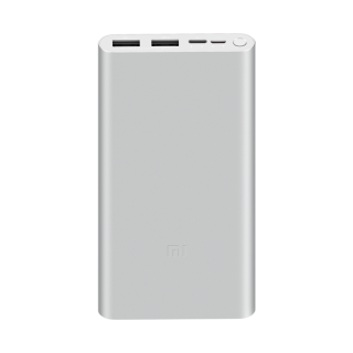 Xiaomi Mi Power Bank 3 10000mAh 18W Fast Charge Batería Externa Color Plata