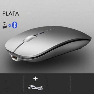 Ratón Inalámbrico Recargable para Ordenador Portátil y PC de Escritorio para Windows y Mac