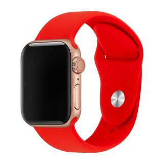 Correa Deportiva para Apple Watch 42/44 mm Apple Watch 3 Apple Watch Serie 5 Correa Silicona de Reloj Color Rojo