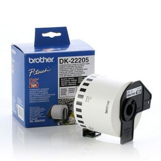 Papel Continuo para Impresoras Brother DK22205 Blanco