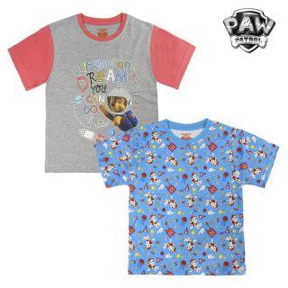 Camiseta de Manga Corta Infantil The Paw Patrol 72675 Talla 2 Años