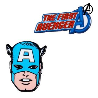 Broche Captain America The Avengers Azul