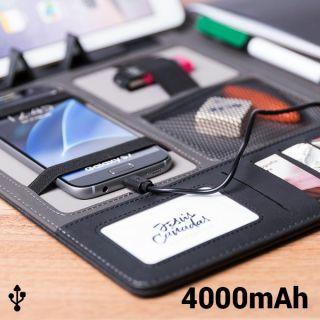 Carpeta con Power Bank 4000 mAh (20 hojas) 146024 Color Negro