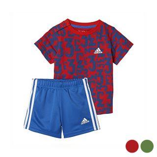 Conjunto Deportivo para Bebé Adidas I Sum Count Color Rojo Talla 18-24 Meses