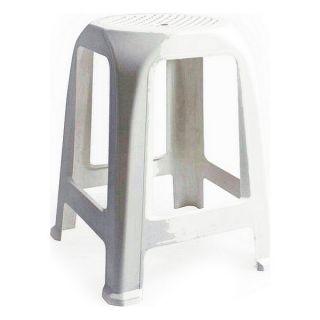 Taburete Aroa Plástico Blanco (26 X 26 x 47 cm)
