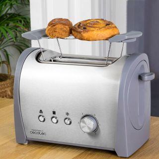 Tostadora de Pan Cecotec Steel&Toast 2S 800W 6 Posiciones de Tostado