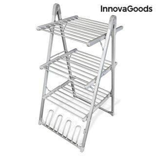 InnovaGoods Tendedero Eléctrico Plegable Compak 300W Gris (30 Barras)