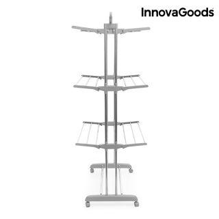 InnovaGoods Tendedero Plegable con Ruedas (18 Barras) Fabricado en aluminio y ABS