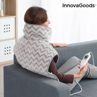 Almohadilla Eléctrica para Cuello, Hombros y Espalda InnovaGoods 60 x 90 cm 100W Gris