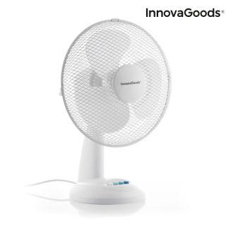 Ventilador de Sobremesa 3 velocidades Oscilante 120º InnovaGoods 30 cm 35W Blanco