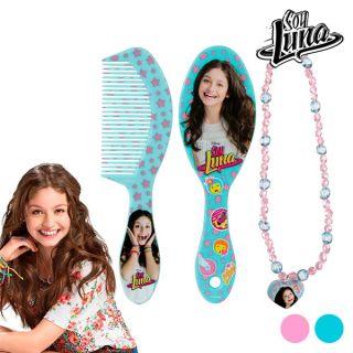 Set de Belleza para Niñas Soy Luna Diseño Cepillo+Peine Rosa